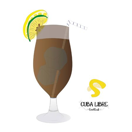 Rum cocktail graphic illustration