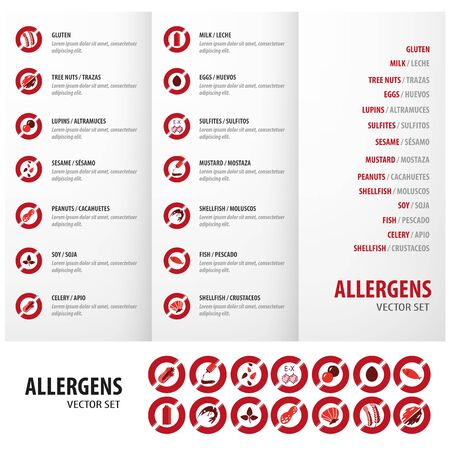 Allergens graphic vector for your business