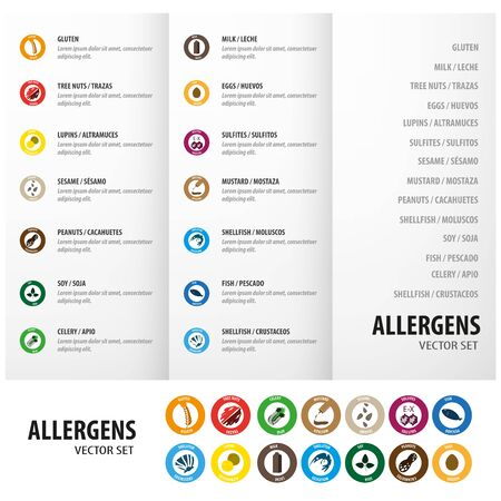 Allergens information icon for menus
