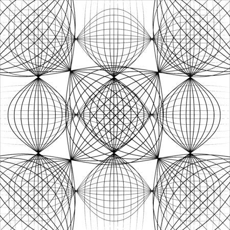 抽象的な黒い背景インターネット ネットワーク  イラスト・ベクター素材