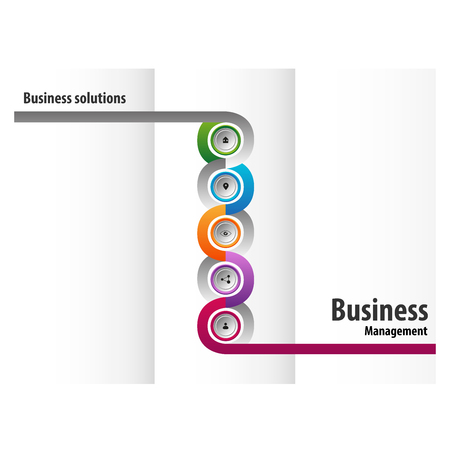 Buttons triptych design for business Illustration
