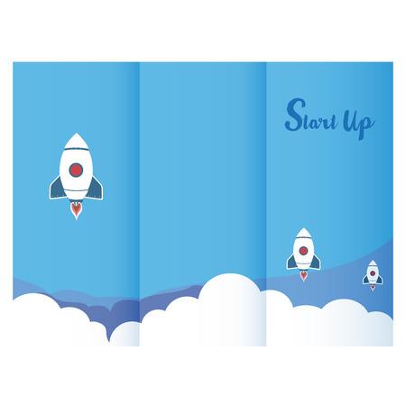 Start up triptych design for business Reklamní fotografie - 73483887
