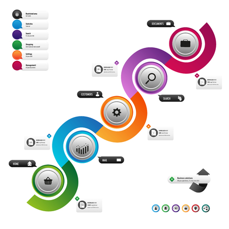 オンライン マーケティングのビジネス ボタン  イラスト・ベクター素材