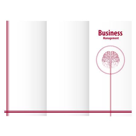 Tree logo design for business management triptych