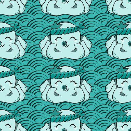 Cute octopus pattern design