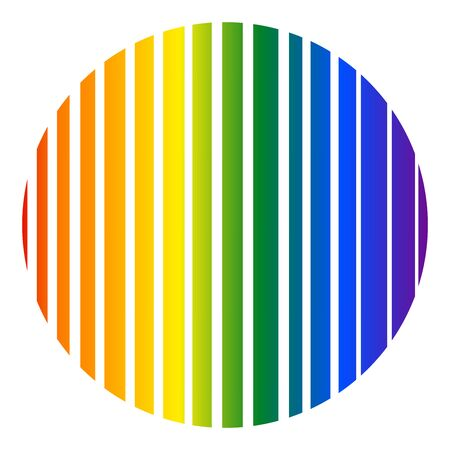 Colorful abstract circle gay pride rainbow