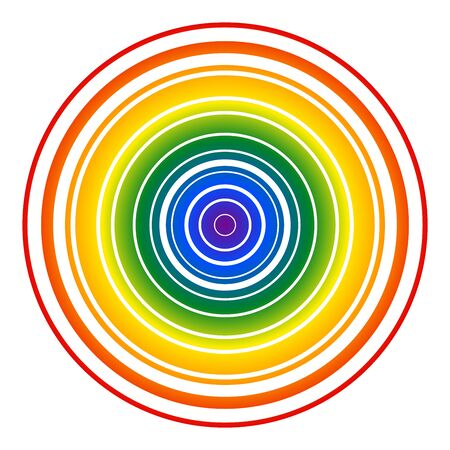 Colorful abstract circle gay rainbow Ilustrace