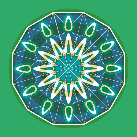 Green mandala snowflake to decor your home