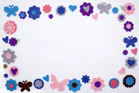 coloful: a coloful frame made by stars diferent kind of embellishment Stock Photo