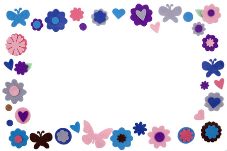 diferent: an isolated coloful frame made by stars diferent kind of embellishment Stock Photo