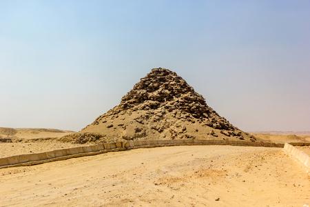 vestige: a horizontal view of the Pyramid of Userkaf Saqqara, Egypt