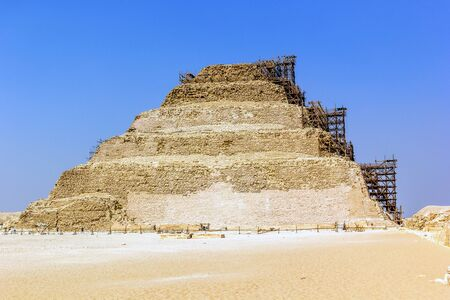 djoser: a horizontal view of the restoration of the Djoser pyramid