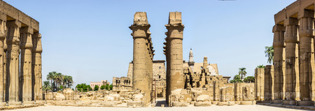 egypt: a panoramic view of the Temple of Luxor, Egypt