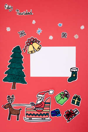 A Vertical Overhead View Of A Scrapbook Xmas Layout With A Happy ...