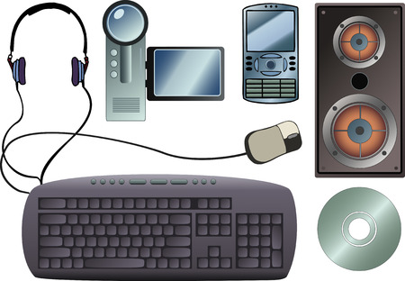 Some common tech gadgets (everythings in layers)