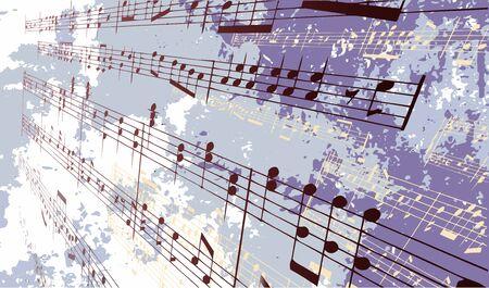 Muziek noten voor een gestructureerde achtergrond