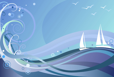 Abstract ocean background Vectores