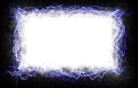 electrifying: White rectangle with a lightning border