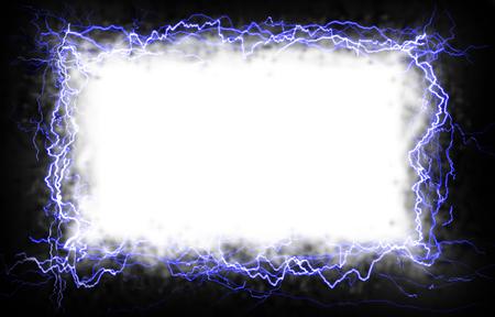 Witte rechthoek met een bliksem rand  Stockfoto