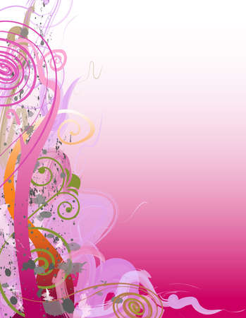 Swirly floral background Imagens