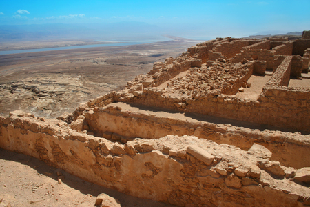 Site Masada, Israël Stockfoto