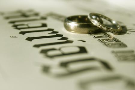 wedding bands: Bandas de boda Foto de archivo