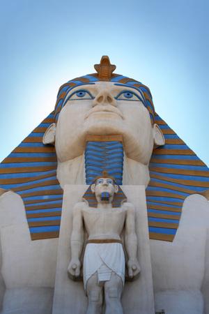 Egyptian statues, Las Vegas 版權商用圖片