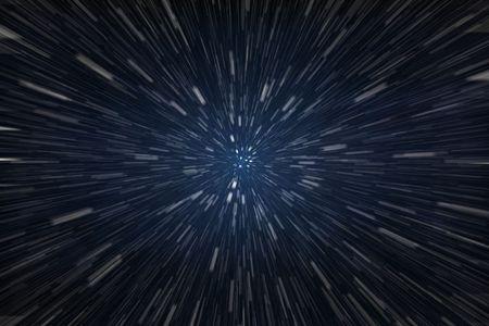 Snelheid van het licht  Stockfoto