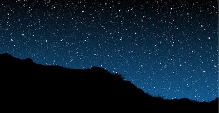multitude: Estrellas detr�s de la colina de silueta