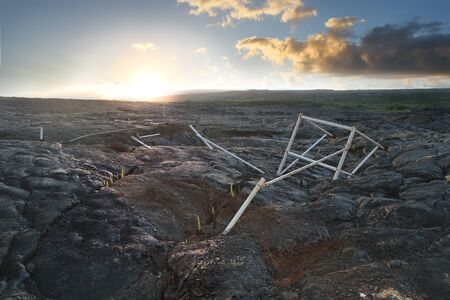 Volcanic Rock Landscape 2 Reklamní fotografie