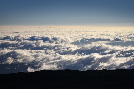 Blanket of Clouds from Mountain Summit