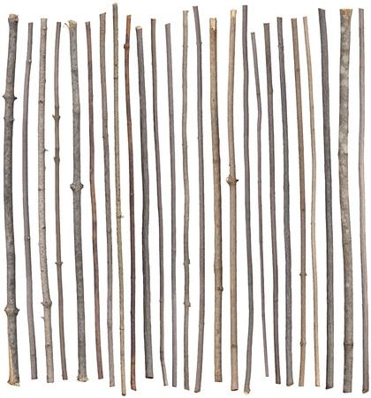 Twenty-five separated sticks isolated on white. Reklamní fotografie