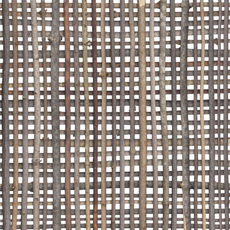 Crosshatch pattern with sticks isolated on white