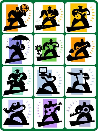shadow people: collection icons shadow people