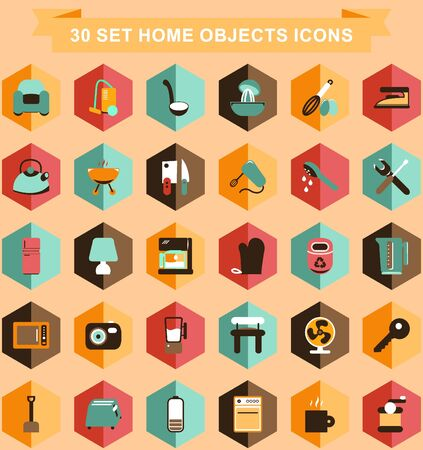sopa: Set design icon flat for Business Illustration