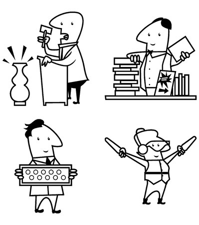 educational materials: collection people work profession, to symbols, professional, draw and, educational materials, other.