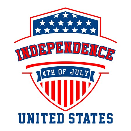 basic letters: Graphic independence united states for shirt and print