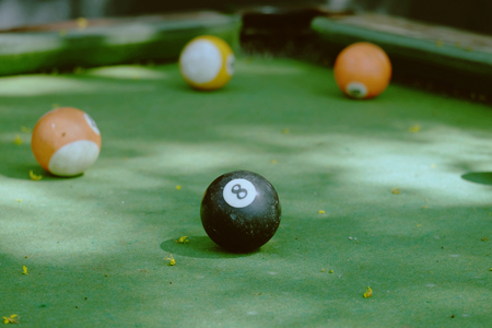 Snooker on the table