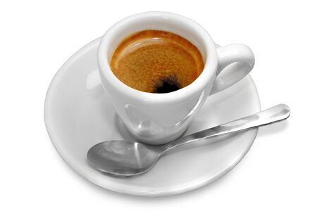 Cup of black coffee on white background Stock Photo - 13384303
