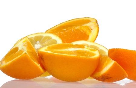 Orange fruits isolated on white background Stock Photo - 13384300