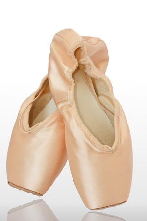Ballet shoes, isolated