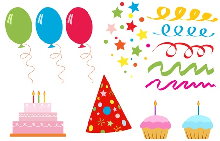 Set of elements for birthday party Stock Vector - 13522620