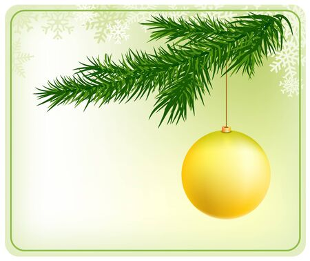 christmas tree with ball Stock Vector - 13522637
