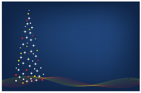 christmas card with tree  and copyspace