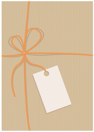 Envelope, recycled paper, empty label