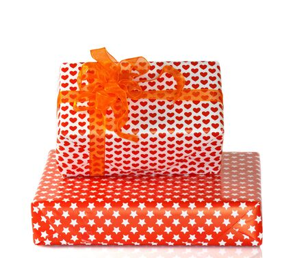 Two Gift boxes with Shiny bow Stock Photo - 13522639