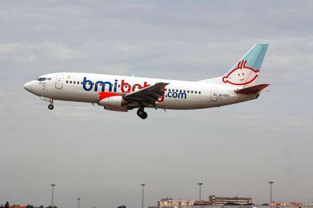 British Charter flight landing in Lisbon airport on the 19th May 2012  Flight from Faro, Algarve