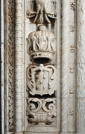 Architecture details, Manueline style, Portuguese Discoveries,  Stock Photo
