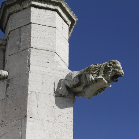 A gargoil in the church of Restelo, Lisbon Stock Photo