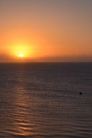 mozambique: sunrise over Mozambique ocean